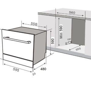 Máy Rửa Chén Âm Tủ KF-BISW800