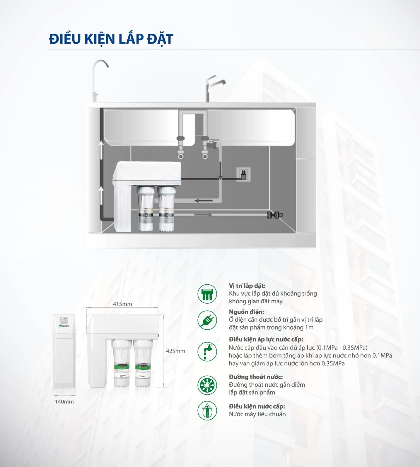 [NEW] Máy lọc nước A. O. Smith R400S