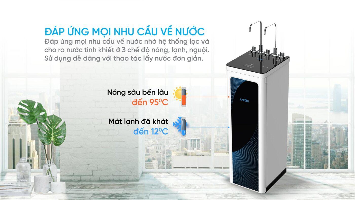 Máy lọc nước nóng lạnh Karofi KAD-D52